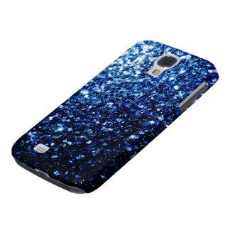 Beautiful Dark Blue glitter sparkles Galaxy S4 Case