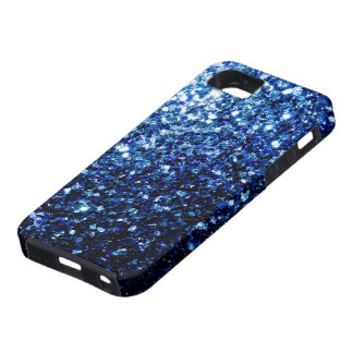 Beautiful Dark Blue glitter sparkles iPhone 5 Cover