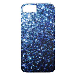 Beautiful Dark Blue glitter sparkles iPhone 7 Case
