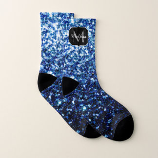 Beautiful Dark Blue glitter sparkles Monogram 1