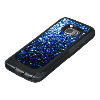 Beautiful Dark Blue glitter sparkles OtterBox Samsung Galaxy S7 Case