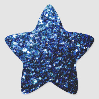 Beautiful Dark Blue glitter sparkles Star Sticker