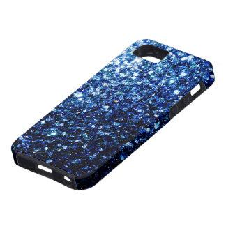 Beautiful Dark Blue glitter sparkles Tough iPhone 5 Case