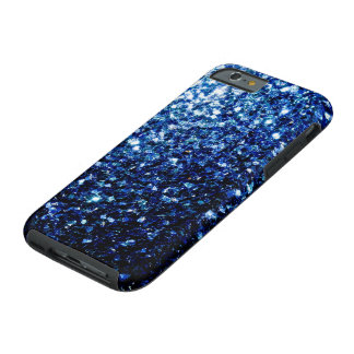 Beautiful Dark Blue glitter sparkles Tough iPhone 6 Case