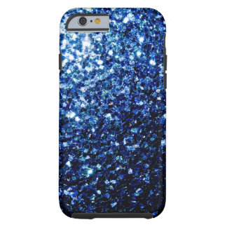 Beautiful Dark Blue sparkles Tough iPhone 6 Case