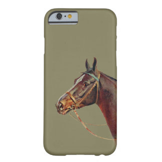 Beautiful dark brown horse barely there iPhone 6 case