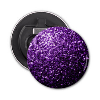 Beautiful Dark Purple glitter sparkles Bottle Opener