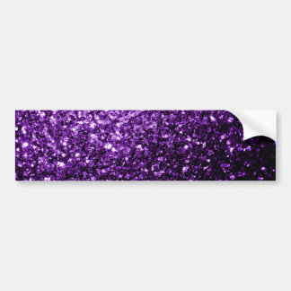 Beautiful Dark Purple glitter sparkles Bumper Sticker