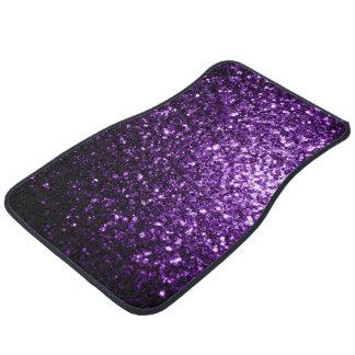 Beautiful Dark Purple glitter sparkles Car Mat