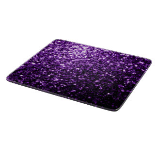 Beautiful Dark Purple glitter sparkles Cutting Board