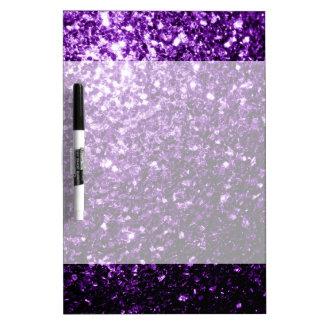 Beautiful Dark Purple glitter sparkles Dry-Erase Whiteboard