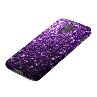 Beautiful Dark Purple glitter sparkles Galaxy S5 Cases