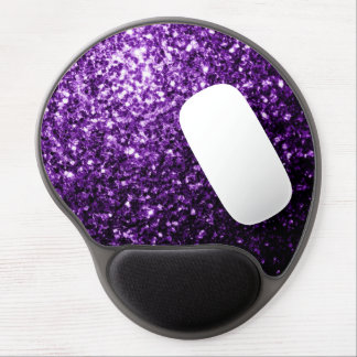 Beautiful Dark Purple glitter sparkles Gel Mouse Mat