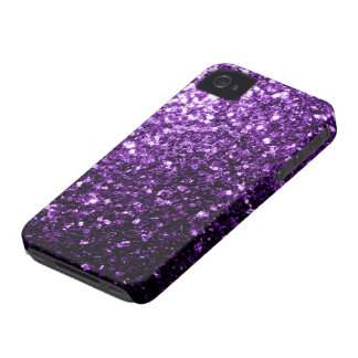Beautiful Dark Purple glitter sparkles iPhone 4 Case-Mate Cases