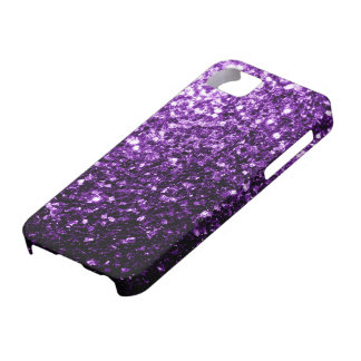 Beautiful Dark Purple glitter sparkles iPhone 5 Covers