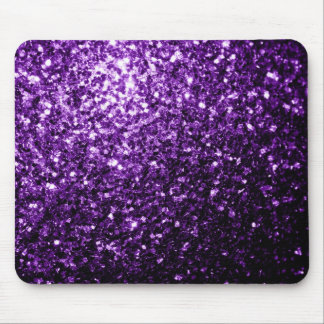 Beautiful Dark Purple glitter sparkles Mouse Pad