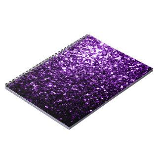 Beautiful Dark Purple glitter sparkles Notebooks