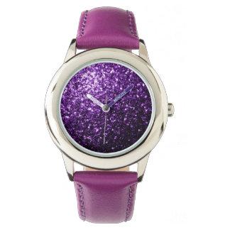 Beautiful Dark Purple glitter sparkles Watch