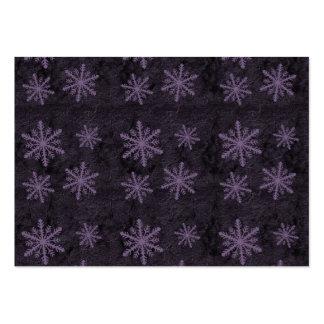 Beautiful Dark Purple Snowflake Holiday Pattern - Business Cards