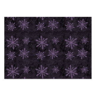 Beautiful Dark Purple Snowflake Holiday Pattern - Pack Of Chubby Business Cards