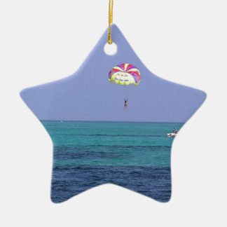 Beautiful day for para-sailing christmas ornament