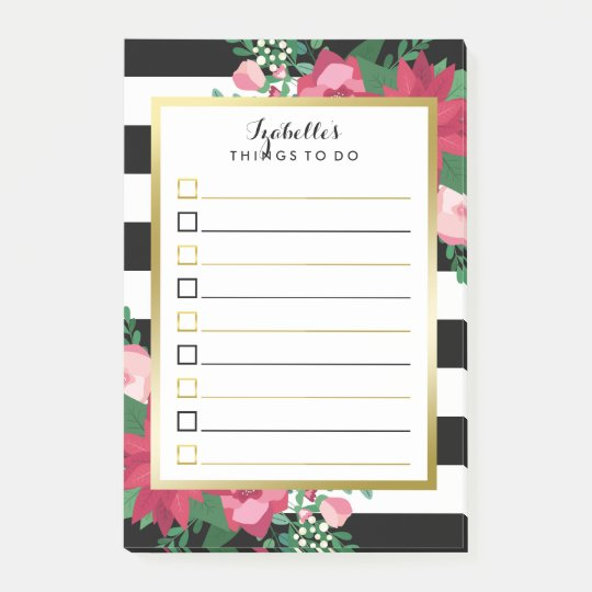 Beautiful December Bouquet Custom Name To Do List