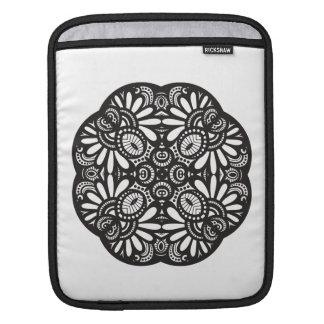 Beautiful Deco Black Square Doodle iPad Sleeve