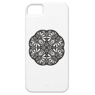 Beautiful Deco Black Square Doodle iPhone 5 Cases