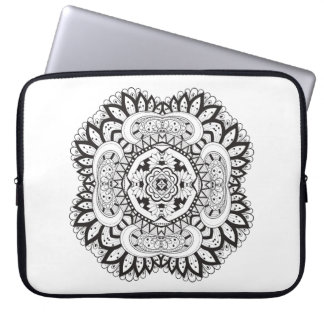 Beautiful Deco Square Doodle Laptop Sleeve