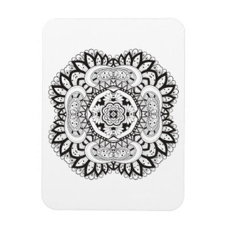 Beautiful Deco Square Doodle Magnet