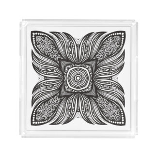 Beautiful Decor Square Doodle Acrylic Tray