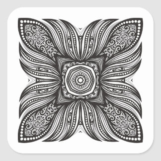 Beautiful Decor Square Doodle Square Sticker
