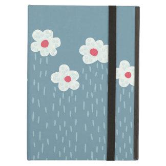 Beautiful Decorative Flower Pattern Rain Clouds iPad Air Case