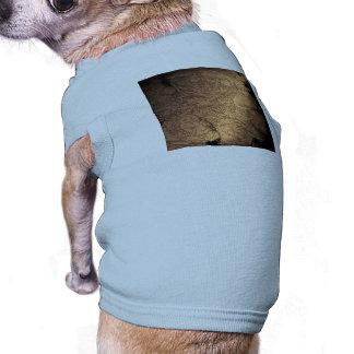 Beautiful decorative pattern with flowers sleeveless dog shirt