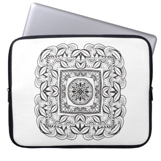 Beautiful Decorative  Square Doodle Laptop Sleeve