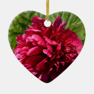 Beautiful Deep Pink Peony Flower - Floral Garden Christmas Ornament