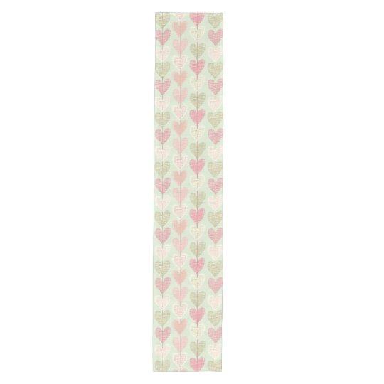 Beautiful Delicate Pastel Colour Heart Pattern Medium Table