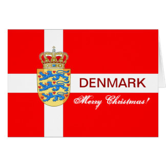 Beautiful Denmark Christmas Greeting Card! Card