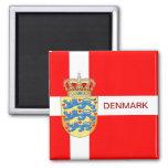 Beautiful Denmark Magnet! Square Magnet
