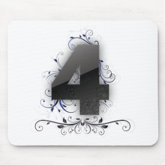 Beautiful design for the number 4 mouse pad