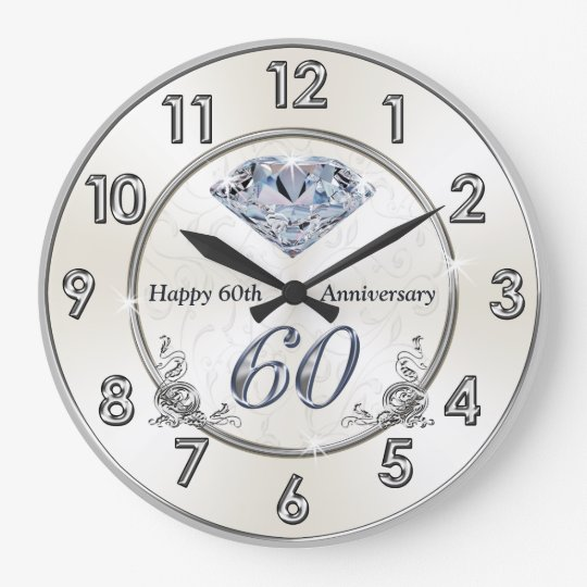 Beautiful Diamond 60th Wedding Anniversary Clocks