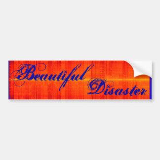 Beautiful Disaster Bumper Sticker