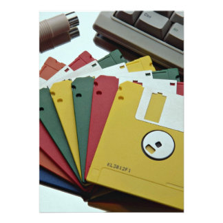 Beautiful Diskettes and keyboard Invitation