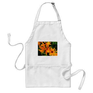 Beautiful display or orange and yellow flowers standard apron