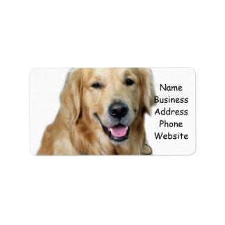 Beautiful Dog Golden Retriever and Your Bone Label