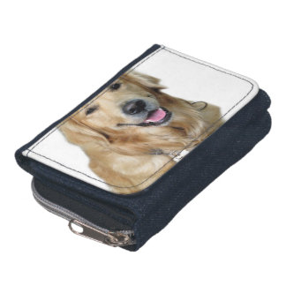 Beautiful Dog Golden Retriever and Your Bone Wallets