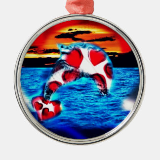 Beautiful Dolphin Christmas Ornament