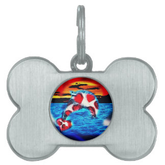 Beautiful Dolphin Pet Tag