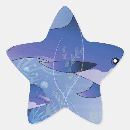 Beautiful dolphin sticker