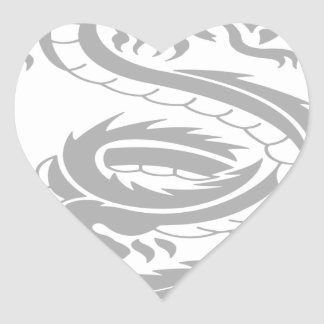 Beautiful dragon designs heart sticker